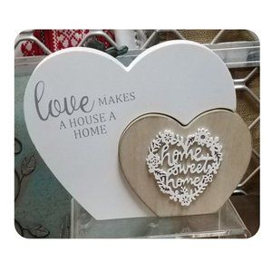 Home Sweet Home 3-D Heart Shaped Plaque Sign